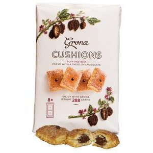 Grona Cushions - vankúšiky z lístkového cesta s náplňou s čokolád.príchuťou 288g
