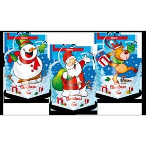 Christmas Fun - Čokoládové pralinky v pap.skladačke v tvare vianočnej figurky 107g