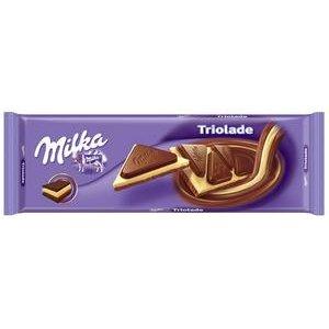 Čokoláda Milka Triolade - Mliečna, biela a tmavá mliečna čokoláda 280g