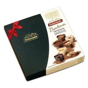 Delaviuda Artesanos - košíčky z troch druhov čokolády a so 6 náplňami 180 g