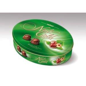 Magnat Nuts Gold - oriešky v mliečnej čokoláde - pralinky v plech.krabičke 245 g