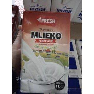 "Trvanlivé mlieko plnotučné ""FRESH"" 3,5% 1l"