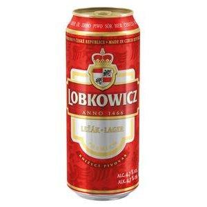 Pivo Lobkowicz 12° - svetlý ležiak 500ml/plech