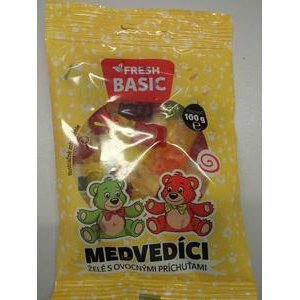 Fresh Medvedici - zele s ovocnymi prichutami 100 g