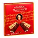 Mozart Sticks Maitre Truffout - tyčinky z horkej čok s marcipán-pistácio.náplňou 200g