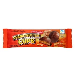 Peanutbutter Cups - mlieč.čok.s arašidovou náplňou a solen.kúskami arašidov 3x20g