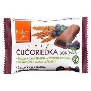 Čučoriedka Nature Line-celozrnné sušienky špaldové s čučoriedkovou náplňou 50 g
