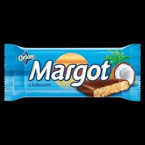 Margot-Sojova tycinka macana v tmavej poleve s kokosovo-rumovou prichutou 90g