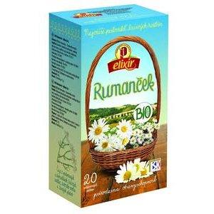 Čaj Elixír Bio Rumanček kamilkový Agrokarpaty - bylinný v hyg.prebale 30g (20x1,5g)