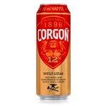 Pivo Corgon 12% svetly 500ml+50ml/plechovka