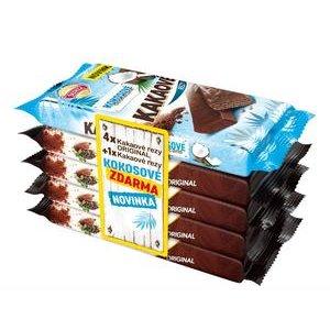 Kakaové rezy Multipack - 4 x Original + 1x Kokosové Máčané ZDARMA