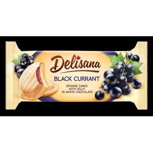 Dezertné piškóty Delisana - Čierne ríbezle v bielej poleve 135 g