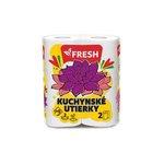 Kuchynské utierky Fresh 2vrstvové 2kotúče po 50 útržkov