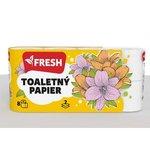 Fresh Toaletný papier 2 vrstvý 18 metrov - 8 ks