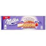 Čokoláda Milka Strawberry Cheesecake - Jahodová s Cheesecake náplňou 300g