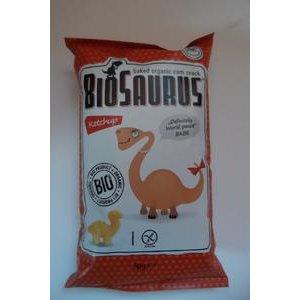 BioSaurus detsky kukuricny bezlepkovy Snack s Kecupom v bio kvalite 50 g