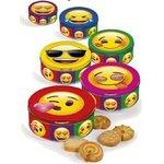 Emoji - cookies s čokoládou v plechovke 150 g