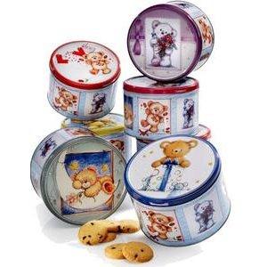 Teddy Bears - cookies s čokoládou v plechovke 150 g