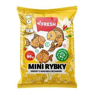 Mini Rybky Fresh s makom a sezamom 90g