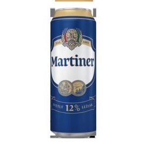 Pivo Martiner 12% plech 0,5l