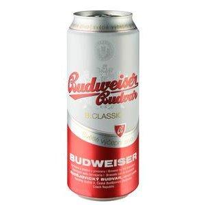 Pivo Budweiser Budvar B:Classic svetlé 10% 0,5l/plech