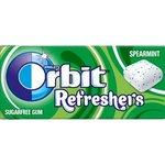 Zuvacka Orbit draze Refreshers Spearmint 15,6g