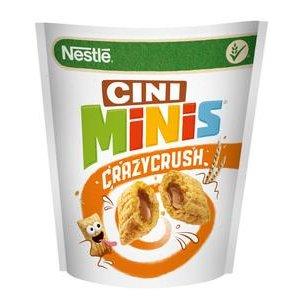 Cereálie Cini-Minis Crazy Crush 350 g - cereálne vankúšiky s náplňou so škoricou