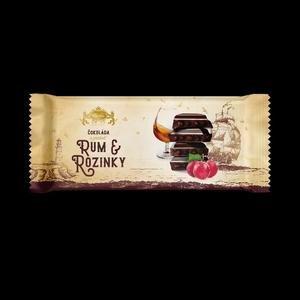 Carla Horka cokolada Rum + Hrozienka 200g