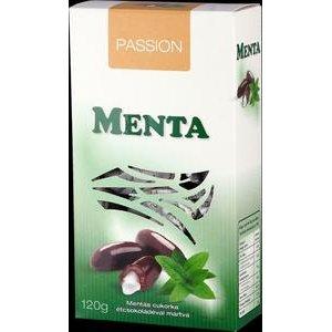 Menta - pralinky z horkej cokolady plnene tekutou mentolovou naplnou 120g