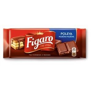 Cokoladova poleva Mliecna Figaro 100g