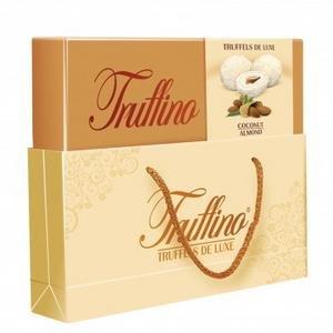 Truffino dezert-Biela cokolada plnena Mliecnym kremom s mandlami a kokosom 325g